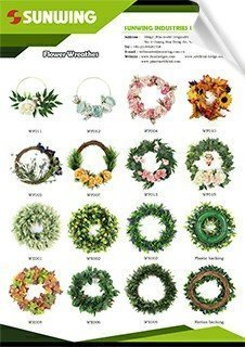 artificial flower or plants wreaths catalog