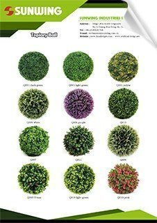 artificial hedges topiary balls catalog