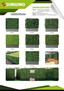 latest sunwing artificialhedges or boxwood in planters