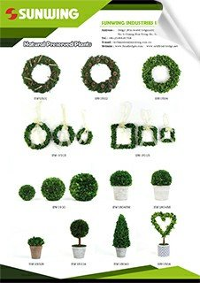 preserved trees or wreaths plants catalog