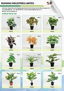 small artificial potted plants catalog