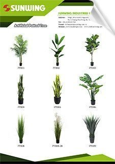 sunwing artificial trees in pots catalog