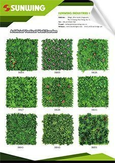 sunwing artificial vertical garden panels catalog