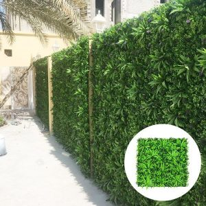 Outdoor green wall fencing from qatar client