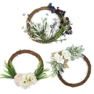 Silk-flower-wreaths-with-leaves