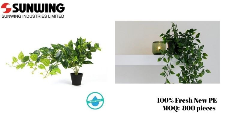 Indoor Artificial Hanging Potted Plants