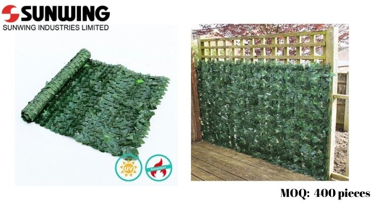Lush Faux Ivy Fence Privacy Screen