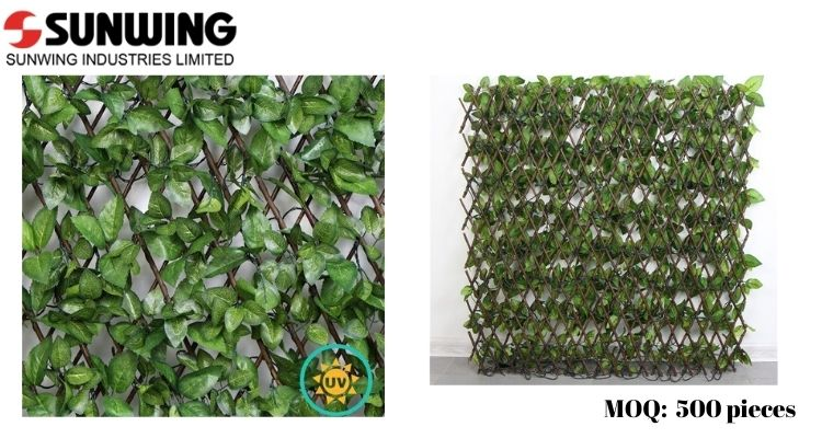 Silk Ivy Leaves Privacy Fence Screen
